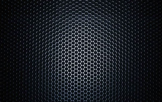 Dark Black Metal Texture Background Powerpoint