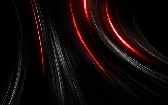 Modern Dark Abstract Red Light Background Powerpoint